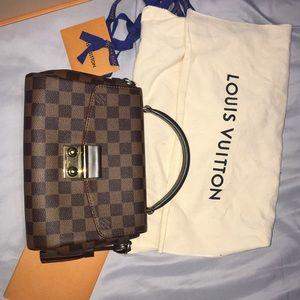 Louis Vuitton Damier Ebene Croisette Shoulder Bag